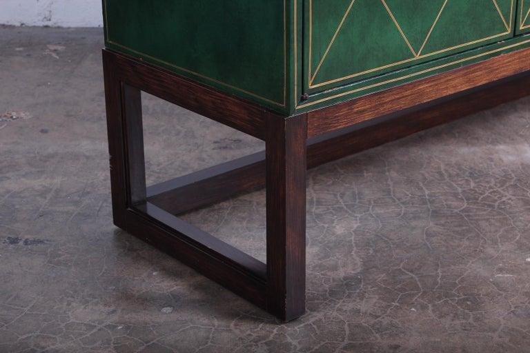 Tommi Parzinger Leather Cabinet For Sale 11