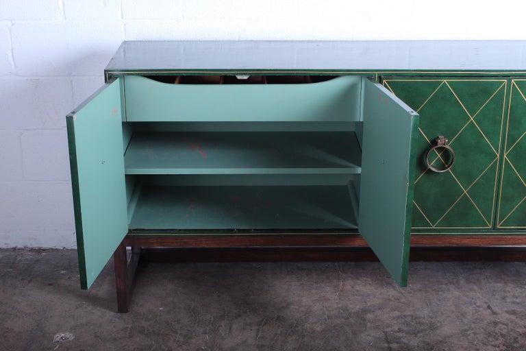Tommi Parzinger Leather Cabinet For Sale 12