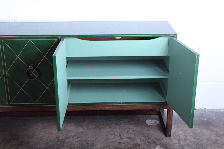 Tommi Parzinger Leather Cabinet For Sale 13