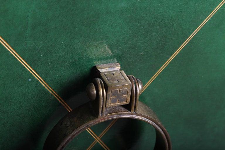 Tommi Parzinger Leather Cabinet For Sale 2