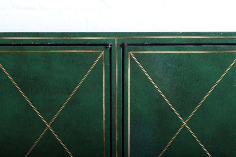 Tommi Parzinger Leather Cabinet For Sale 3