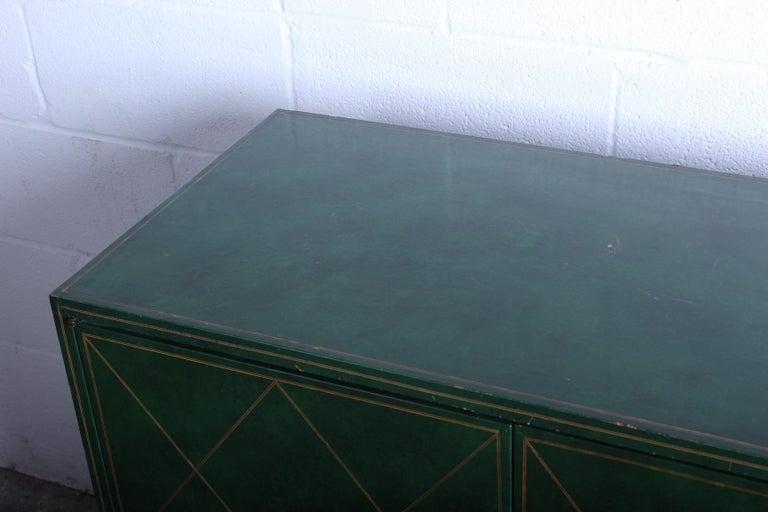 Tommi Parzinger Leather Cabinet For Sale 4