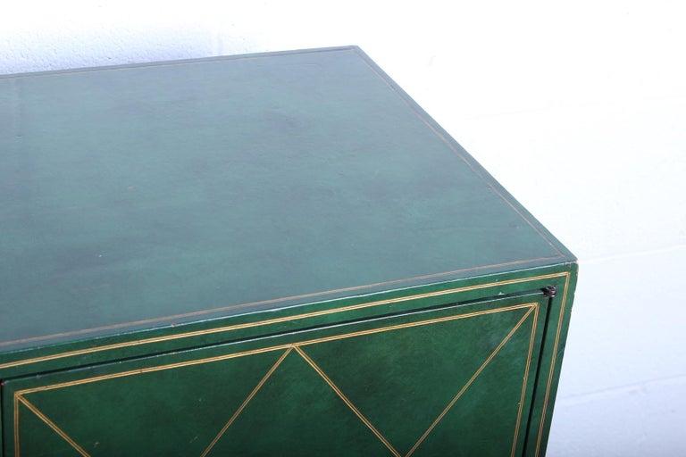 Tommi Parzinger Leather Cabinet For Sale 6