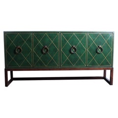 Tommi Parzinger Leather Cabinet