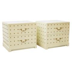 Tommi Parzinger Mid-Century Modern Studded Dressers