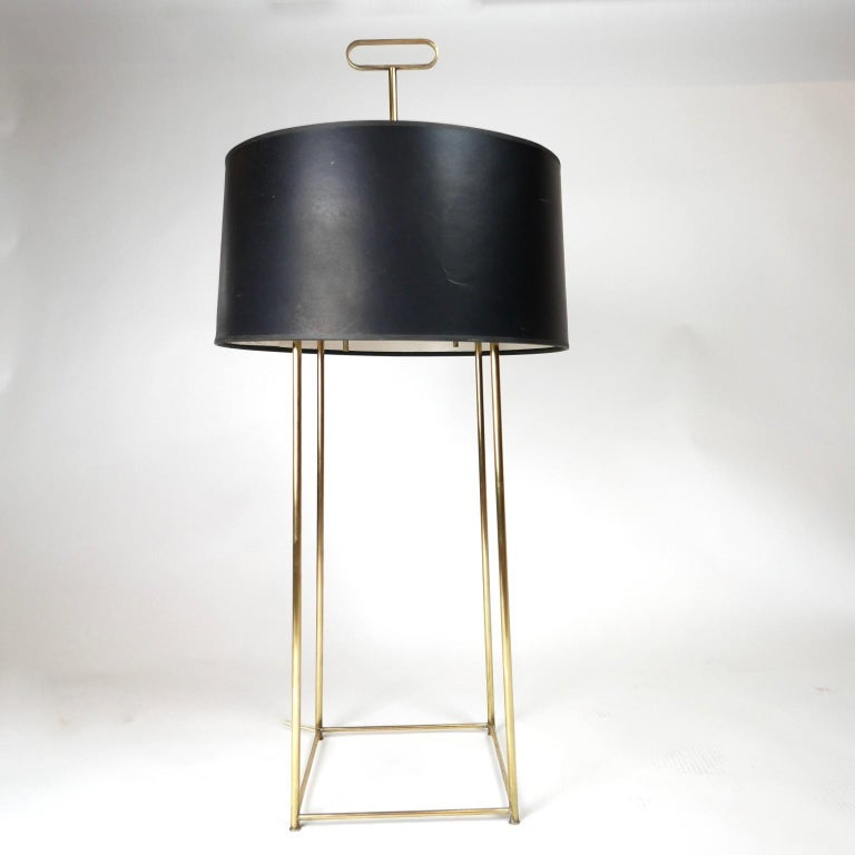 Tommi Parzinger Originals Model 19 Table Lamp in Brass with Original Shade For Sale 5