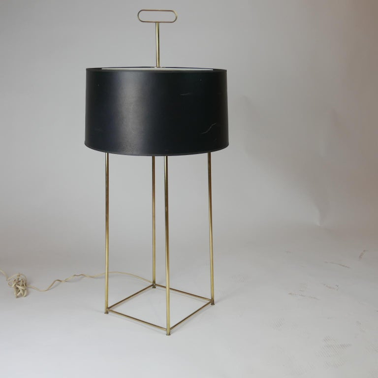 Mid-Century Modern Tommi Parzinger Originals Model 19 Table Lamp in Brass with Original Shade For Sale
