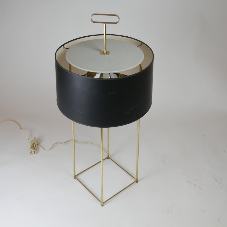 American Tommi Parzinger Originals Model 19 Table Lamp in Brass with Original Shade For Sale