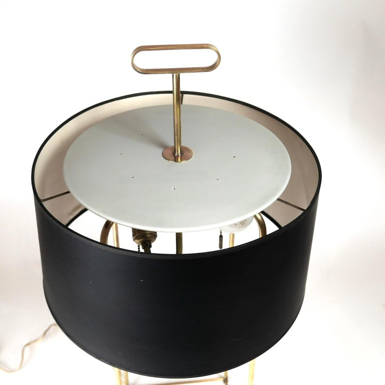 20th Century Tommi Parzinger Originals Model 19 Table Lamp in Brass with Original Shade For Sale
