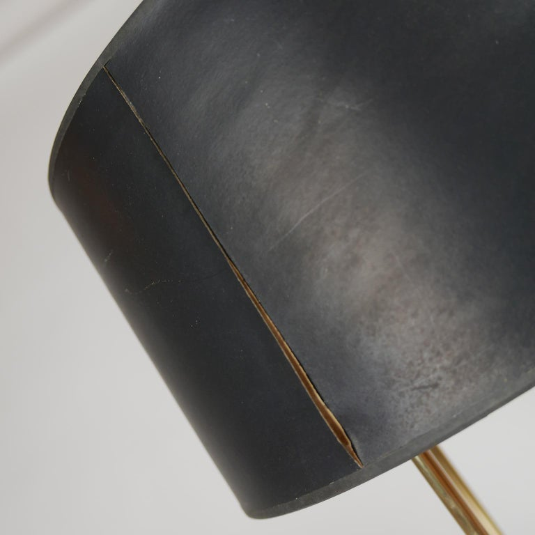 Metal Tommi Parzinger Originals Model 19 Table Lamp in Brass with Original Shade For Sale