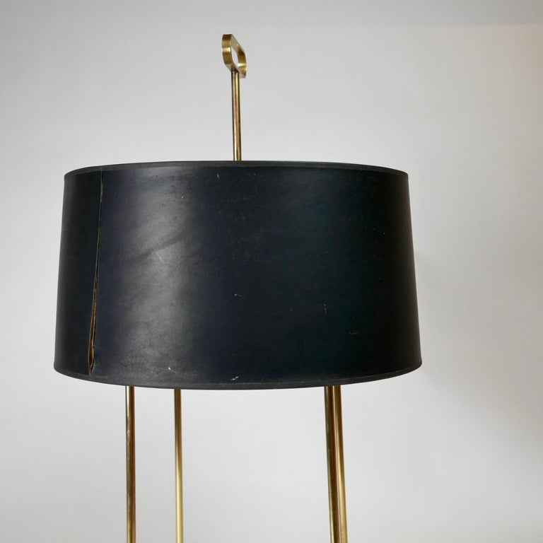 Tommi Parzinger Originals Model 19 Table Lamp in Brass with Original Shade For Sale 1