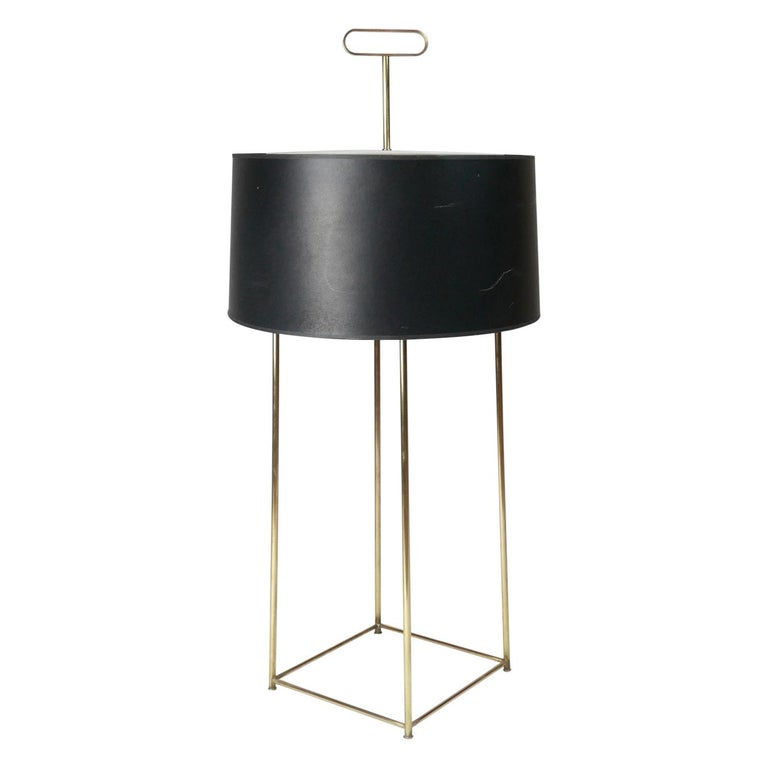 Tommi Parzinger Originals Model 19 Table Lamp in Brass with Original Shade For Sale