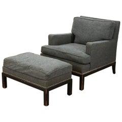 Tommi Parzinger Originals Modern Armchair and Ottoman, Club Chair, 1958