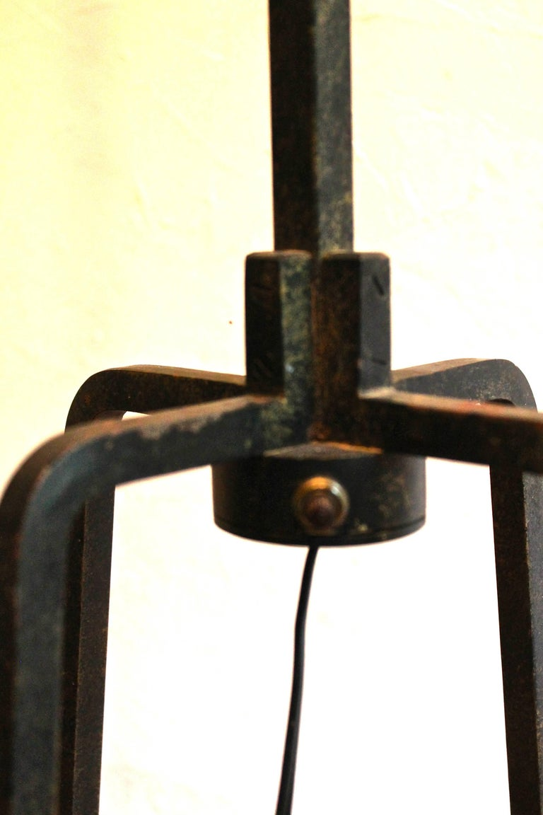 20th Century Tommi Parzinger Originals Wrought Iron Floor Lamp For Sale