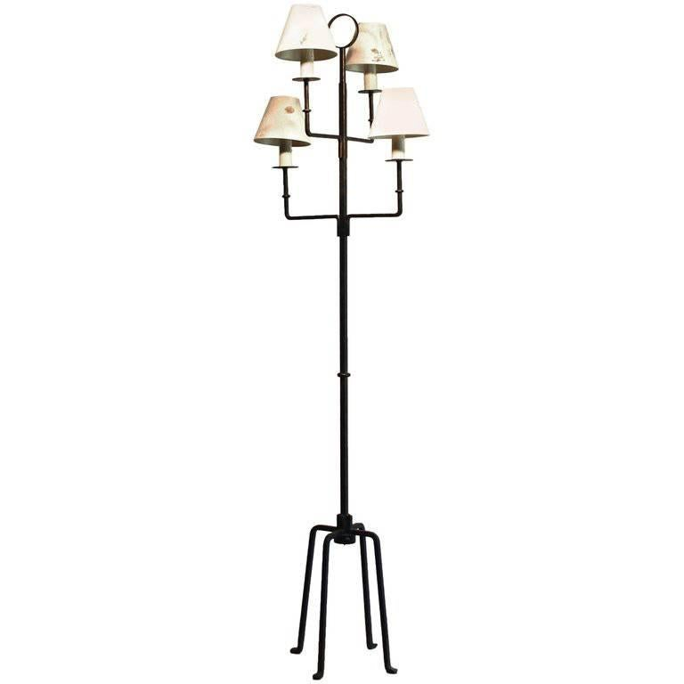 Tommi Parzinger Originals Wrought Iron Floor Lamp For Sale