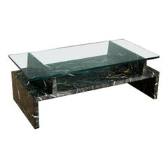 Tommi Parzinger Painted Faux Marble Coffee Table