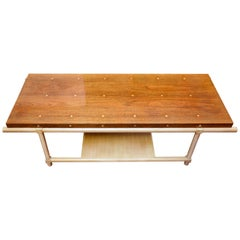 Tommi Parzinger, Parzinger Originals, Walnut & Maple Polka-Dot Coffee Table 1959