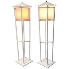 Tommi Parzinger Pavillion Collection Pair of Floor Lamps for Willow and Reed