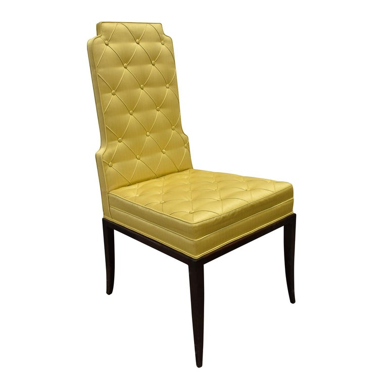 Mid-Century Modern Tommi Parzinger Set of 6 Dining Chairs With Tufted Backs 1950s For Sale
