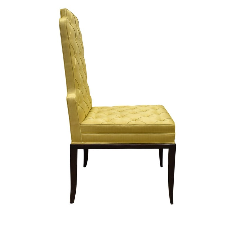 American Tommi Parzinger Set of 6 Dining Chairs With Tufted Backs 1950s For Sale