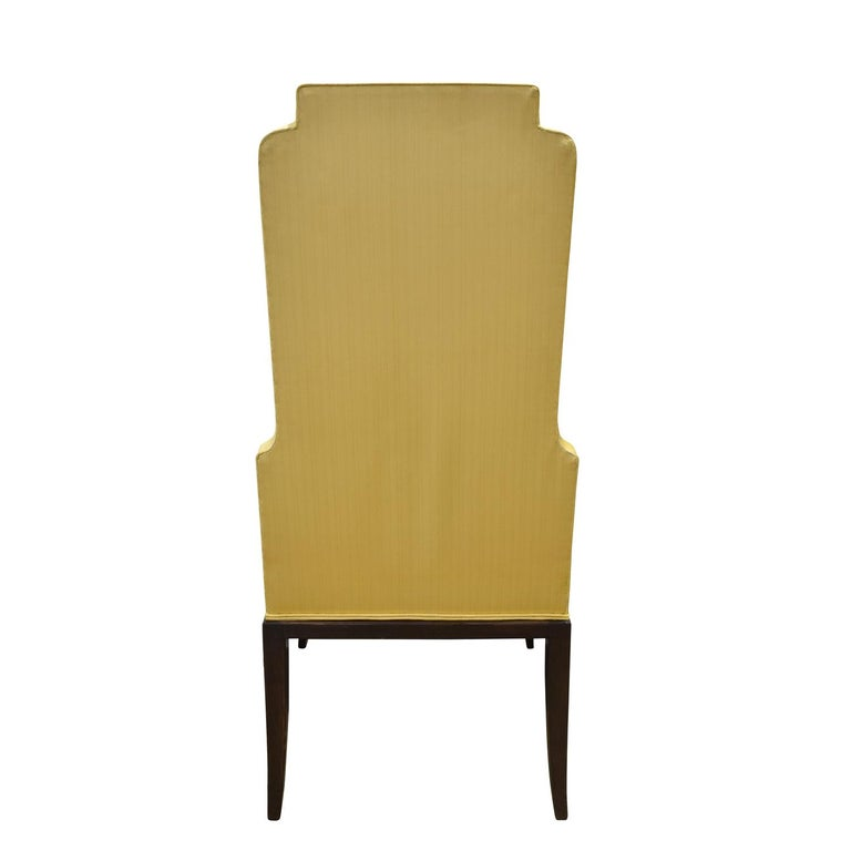 Hand-Crafted Tommi Parzinger Set of 6 Dining Chairs With Tufted Backs 1950s For Sale