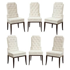 Tommi Parzinger Set of 6 Elegant Dining Chairs, 1950s
