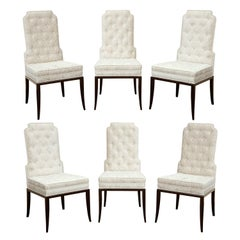 Tommi Parzinger Set of 6 Elegant Dining Chairs 1950s
