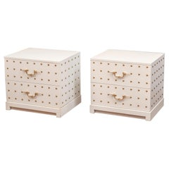 Tommi Parzinger Two-Drawer Studded Dressers