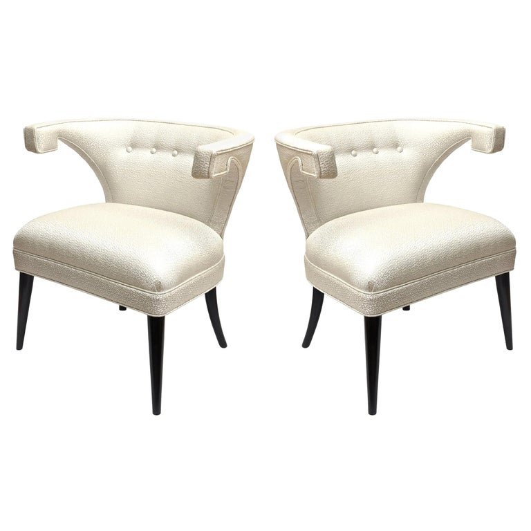 Tommi Parzinger Veronese Side Chairs Mid-Century Modern For Sale