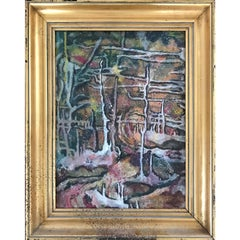 Early Mid Century Modern Abstract Painting