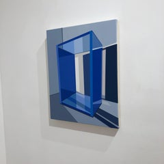 Tommy Fitzpatrick, Pilotis, acrylic abstract geometric painting, 2018