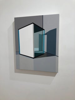 Tommy Fitzpatrick, Threshold, acrylic abstract geometric painting, 2018