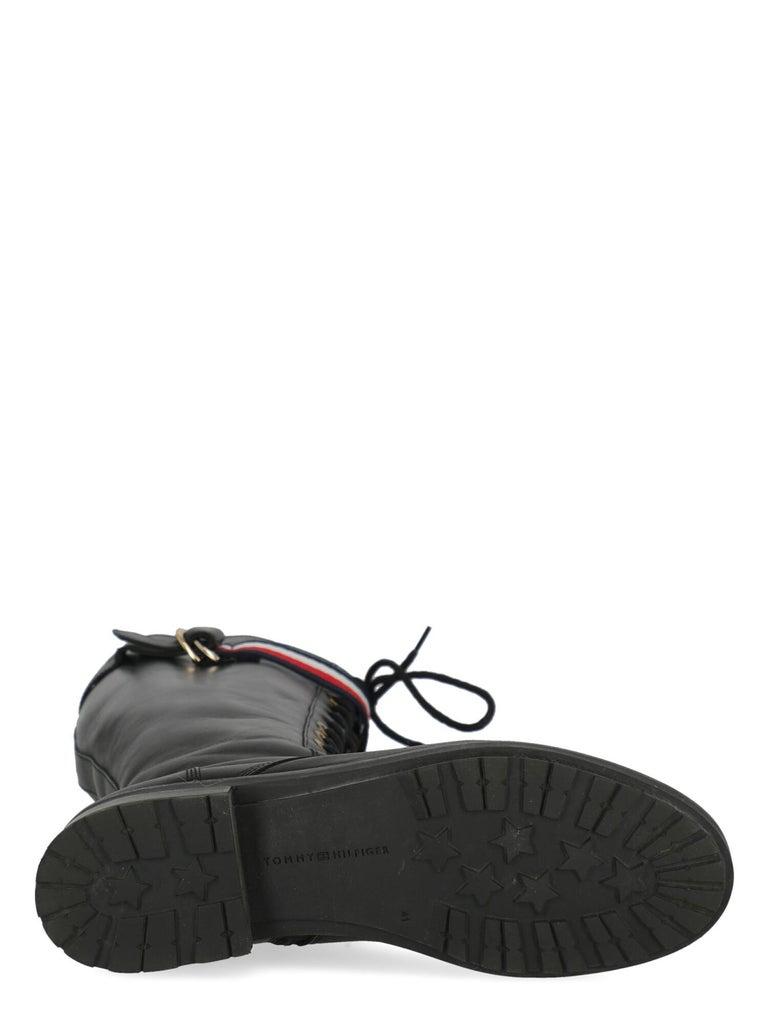Women's Tommy Hilfiger Women Boots Black Leather EU 41