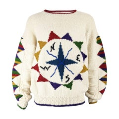 Tommy Nutter of Savile Row Rare Mens Vintage Knit Sweater, 1980s