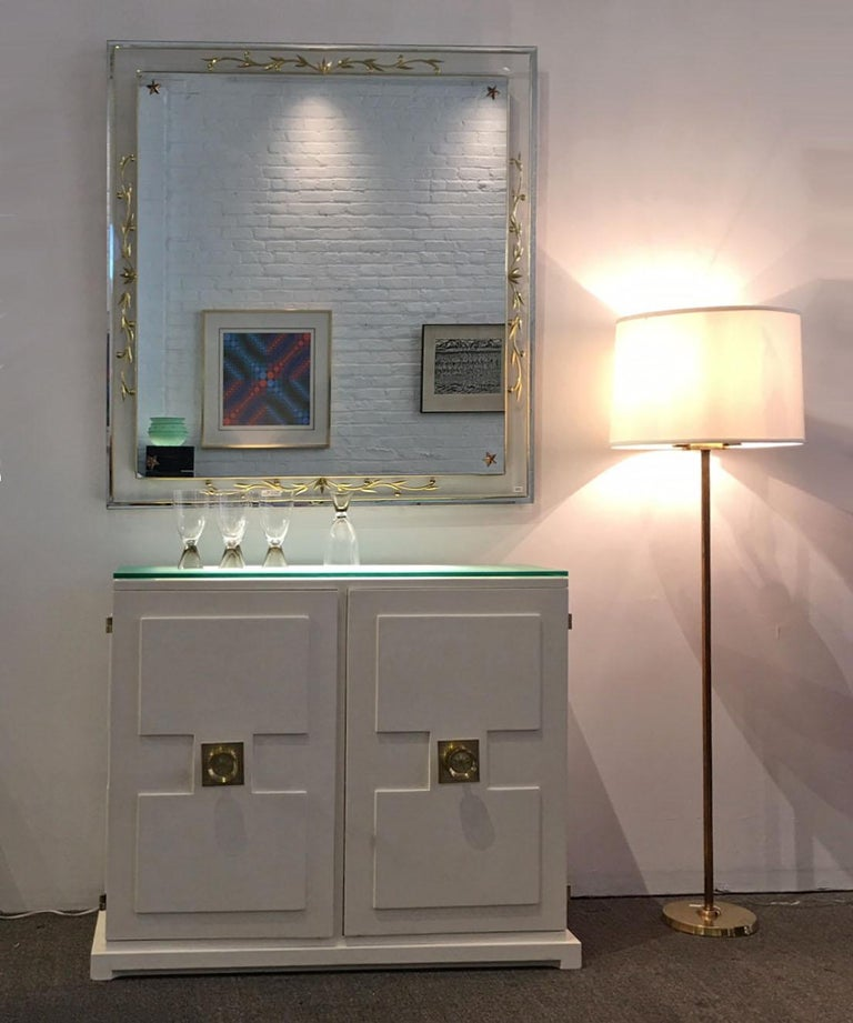 Mid-20th Century Tommy Parzinger Illuminated Bar Cabinet For Sale