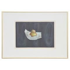 """Pear"" Original Modern Mezzotint of a Pear Against a Black Background 44/75"