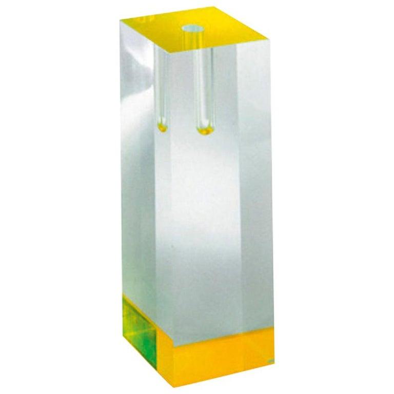 Tomoko Mizu Acrilic Vase in Yellow for Cappellini For Sale