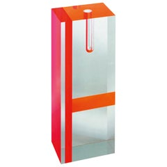 Tomoko Mizu Acrylic Vase in Red and Orange for Cappellini