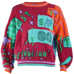 Ton SurTon Vintage Mens Hand Knitted Sweater, 1980s