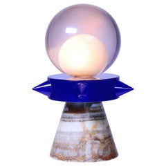 Tona Blue Lamp in Resin