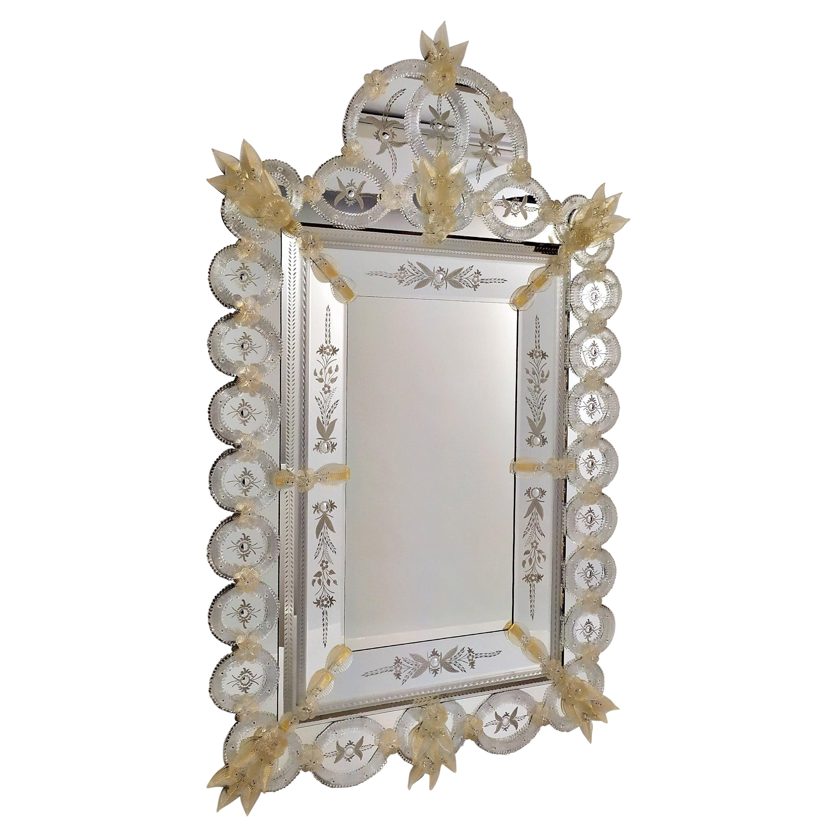 Tondi, Artistic Murano Glas Mirror, Handcrafted, Made in Italy, by Fratelli Tosi