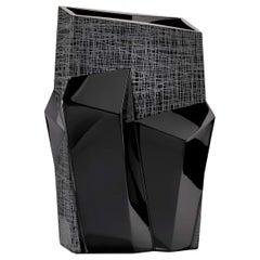 Tondo Doni Metropolis Black Vase by Mario Cioni