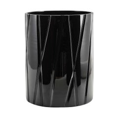 Tondo Doni Skyline Black Short Vase by Mario Cioni