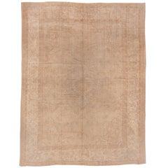 Antique Turkish Oushak Carpet, Soft Palette