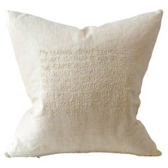 Tone on Tone Embroidered Text Cushion with John Barth Quote