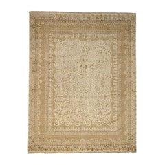 Tone-on-Tone Kashan Design Half Wool Half Silk 300 Kpsi Rug