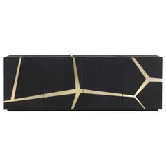 Tonga Sideboard in leather by Roberto Cavalli