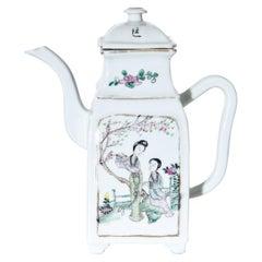 Tongzhi Porcelain Teapot, China, 19th Century