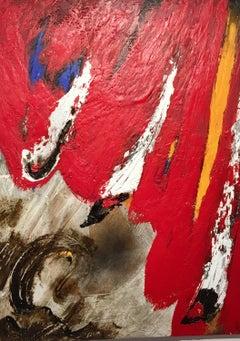 Balmes. original abstract mixed media acrylic painting