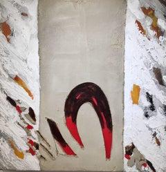 Cadaques. original abstract mixed media acrylic painting